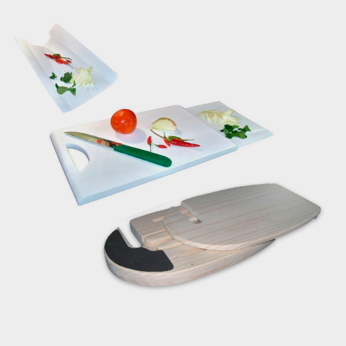 ECO DESIGN AWARD 2008 : Chopping Block Slide. Chopping Block Slide have a function 3 ni 1 (Knife Holder, tray, Chopping Block)