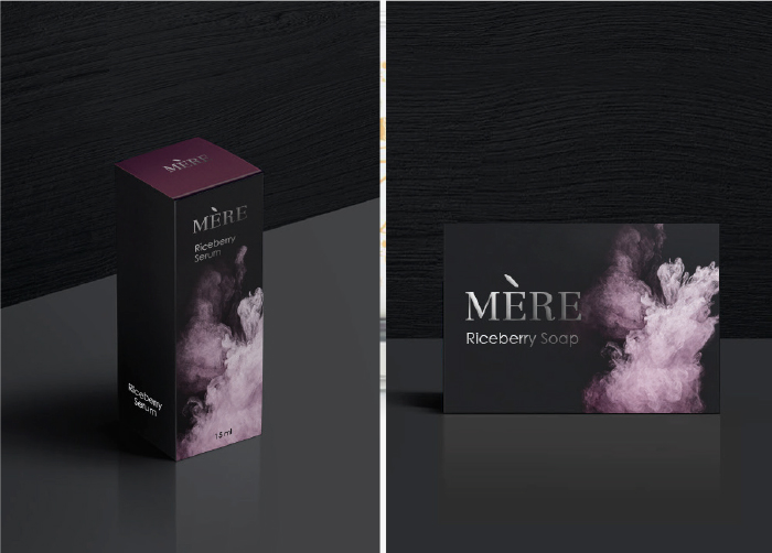 """MERE Cosmetics : Logo / CI Branding / packaging. Development cosmetics products from rice for new look """"Luxury modern"""" style which the core-signature of this brand."""