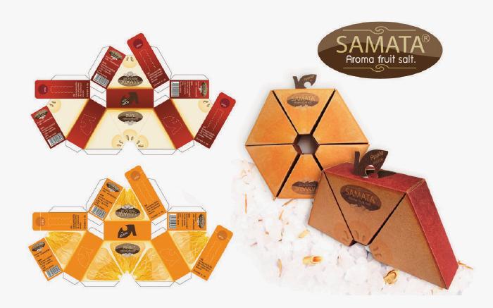 Awards : S T O U Logo & Packaging Design. The Paper from orange peel for Packaging Design of a spa salt orange smell