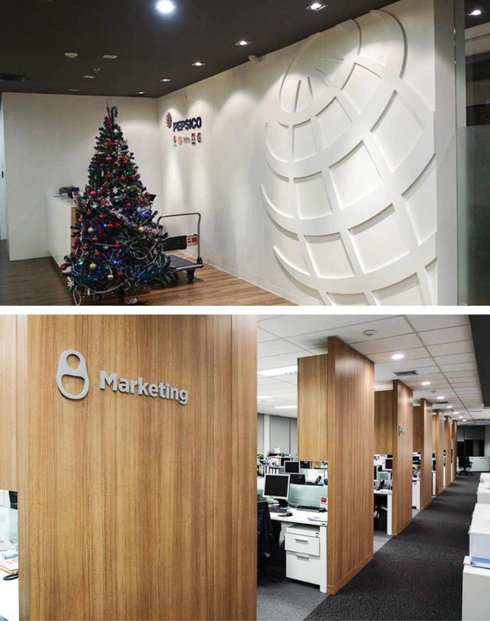 PEPSICO THAILAND  Graphics design on interior for Pepsico Thailand office based on brand's core-visual and product to apply for design icon department sign and brand's environment.