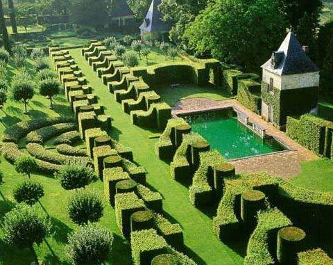 Eyrignac trädgården. Foto Turistbyrån Eyrignac