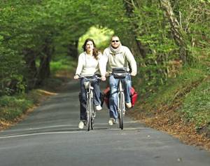 cyklister på gröna avenyn.