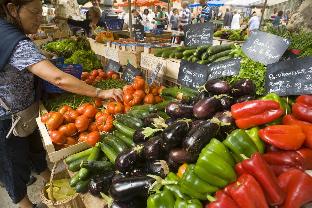 marknad i Provence. foto R. Cintas-Flores