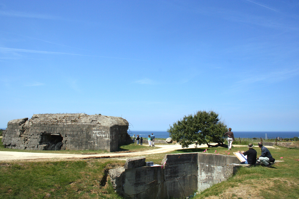bunker vid pointe du hoc. foto cdt 14.