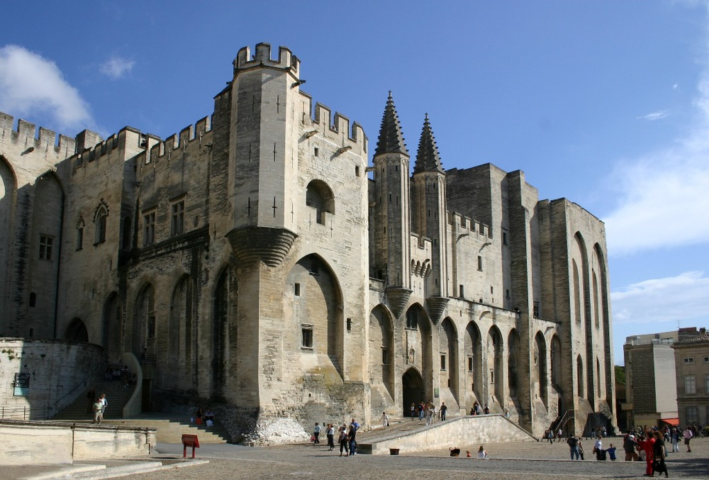 Avignon, påvepalatset. foto Jean-Marc Rosier.