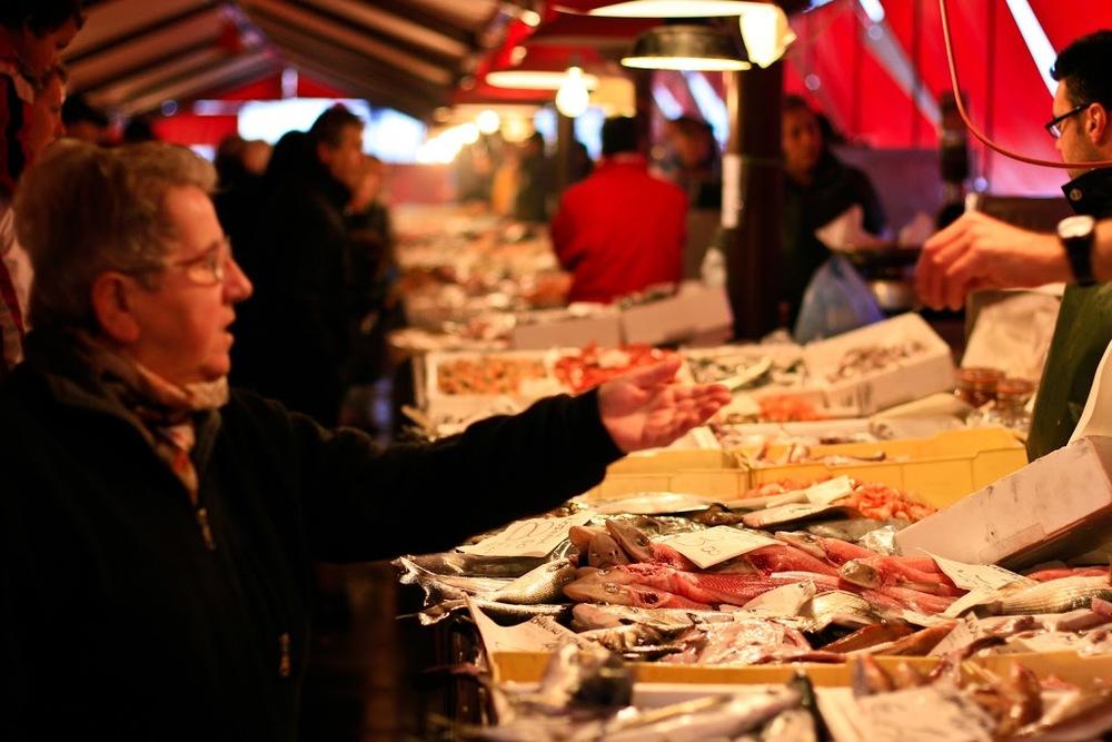 Chioggia, fiskmarknaden.