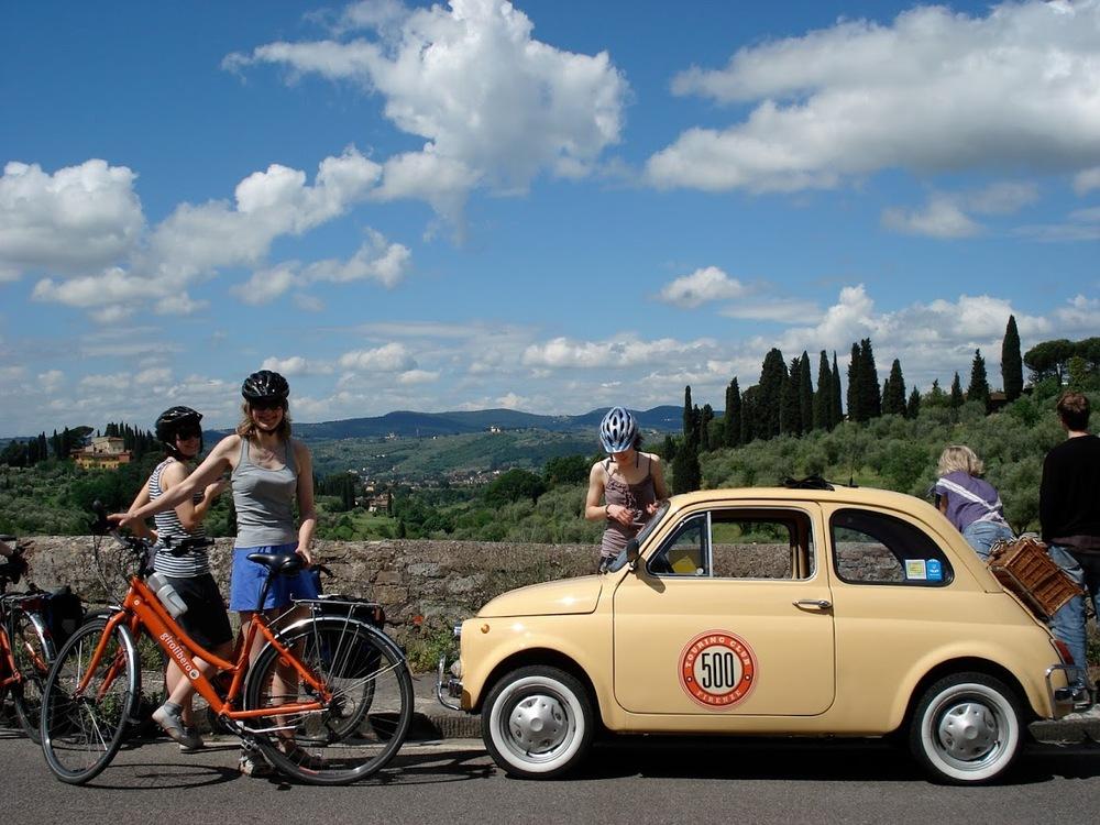cyklister i toscana.