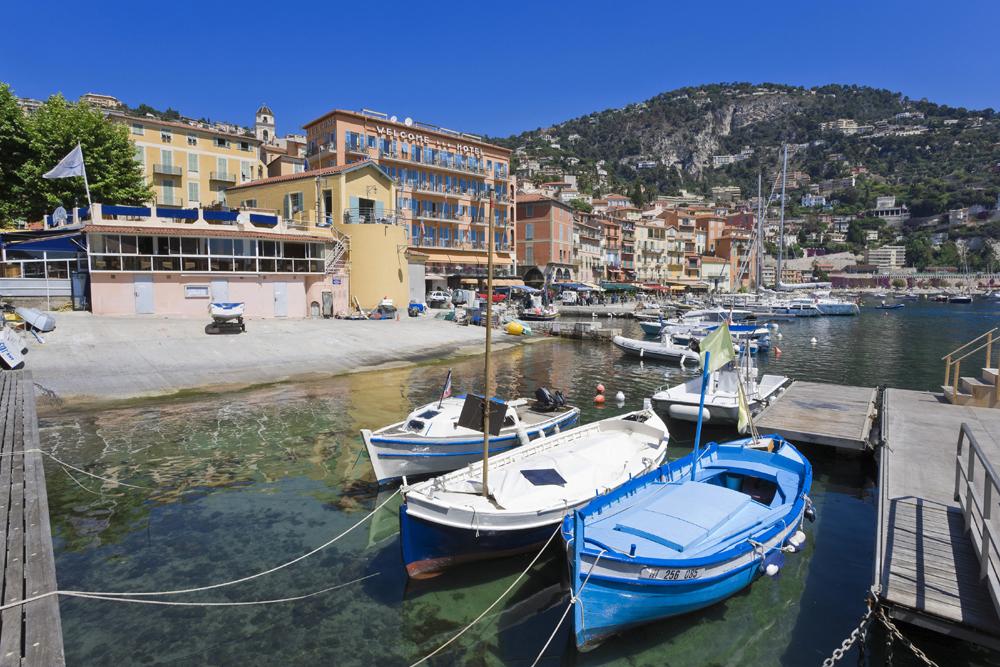 hamnen i villefranche sur mer. foto CRT Côte d'Azur, Robert PALOMBA
