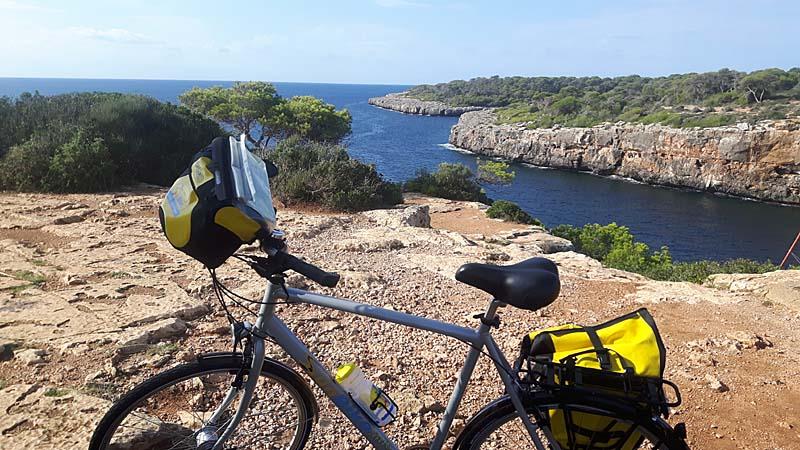 första cykeletappen längs kusten.