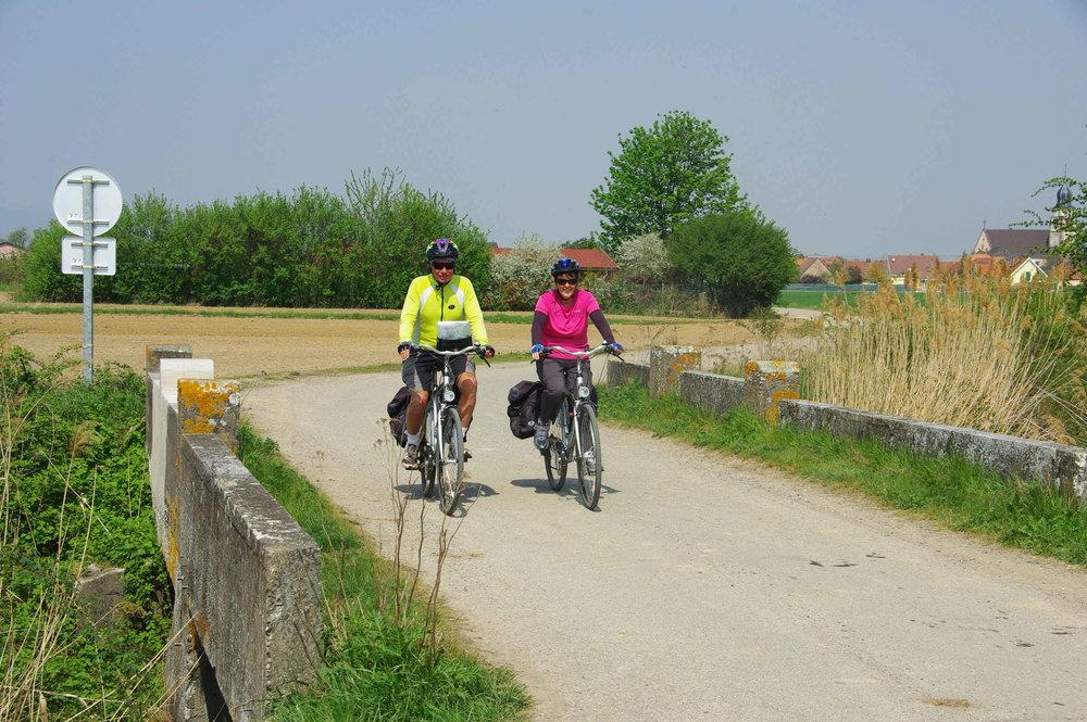 Cykelväg längs rhen
