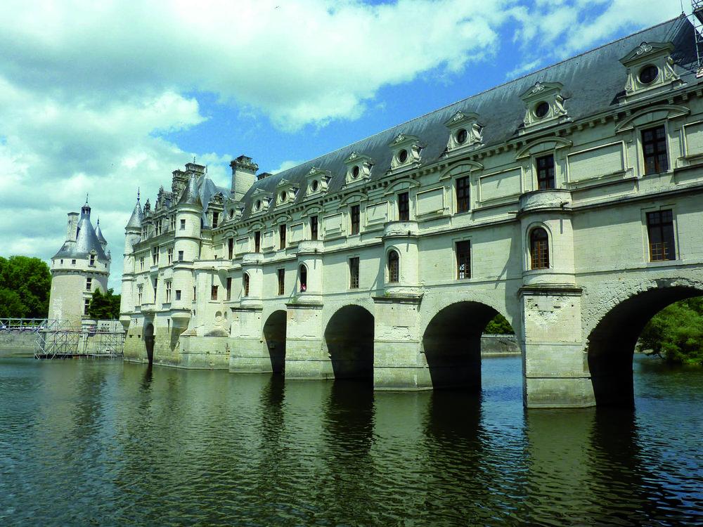 slottet i chenonceau.