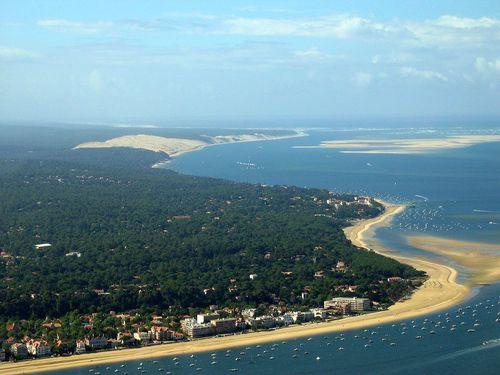 arcachon och sanddynen pyla. foto Mtu33260