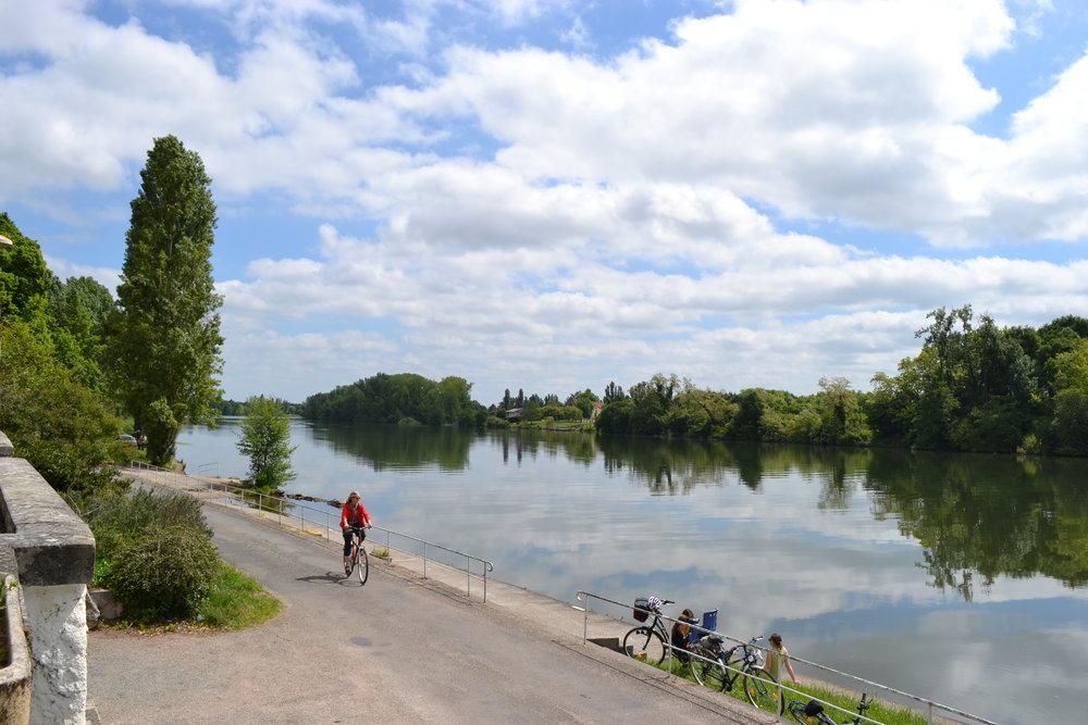 cykelvägen längs floden lot ©CDT47