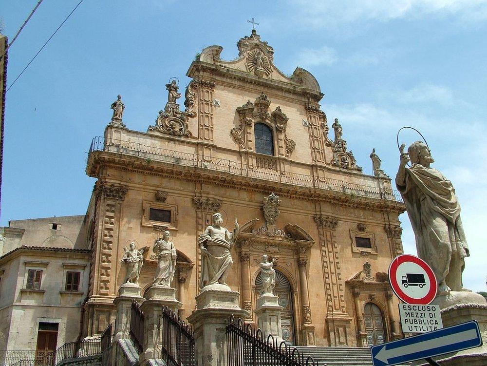 Modica kyrkan Santa Maria del Soccorso foto Clemensfranz