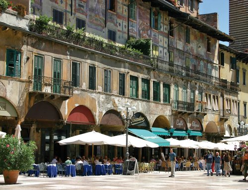 Verona, piazza delle erbe.