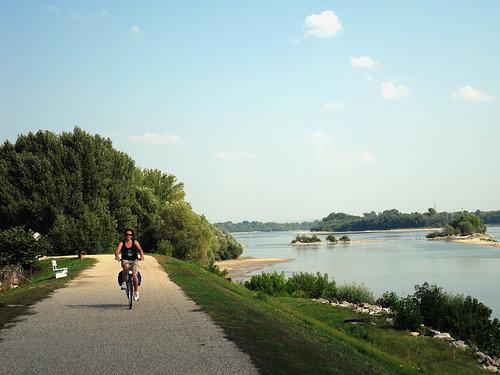cykelvägen längs donau.