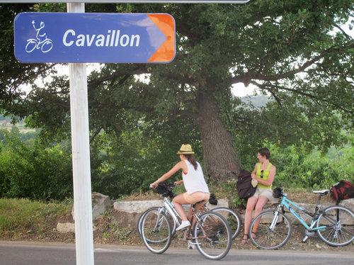 Cykelväg mot Cavaillon foto chemins du sud