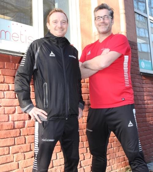 John Andreas Husøy og Jan Stankiewicz utenfor Metis