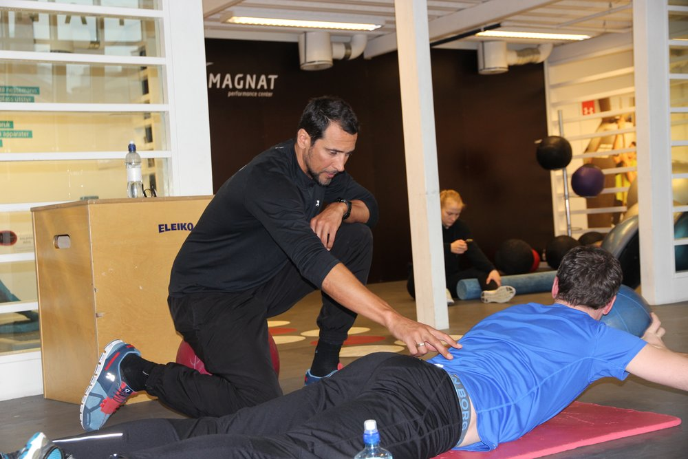 Marcel with one of his clients at Magnat Center.