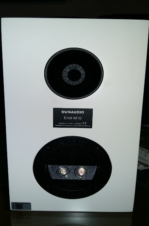 Dynaudio emit m10 standmount loudspeaker (rear)