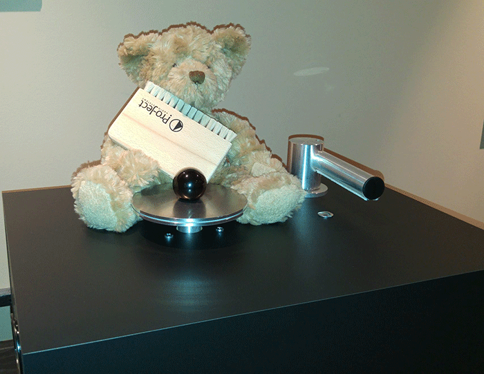 "Boswell is the original vinyl care bear and says that ""V inyl hygiene is imperative for the best sound reproduction ""."
