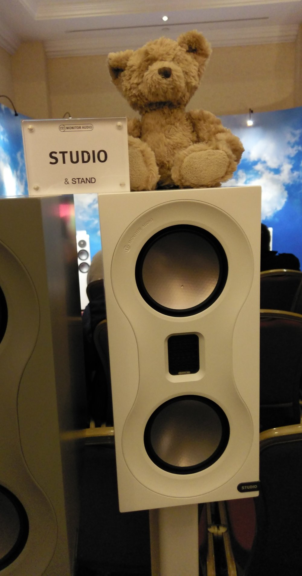 Boswell did have a chance to perch on the new Monitor Audio Studio speakers which were rather wonderful.