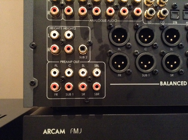 Pre Amp outputs supply audio to the Power Amps.