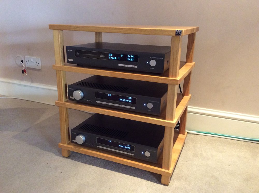 Arcam HDA set up with HiFi Racks Podium Slimline