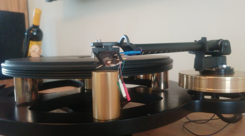 Rega ANIA MC cartridge during fitting