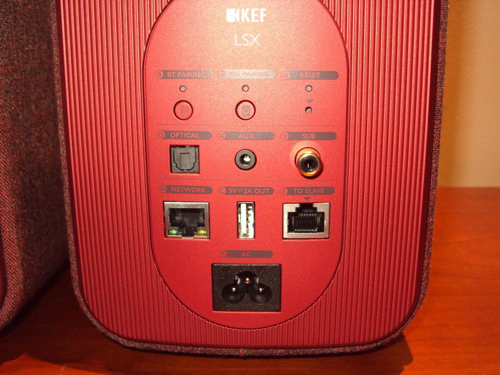 KEF LSX input sockets