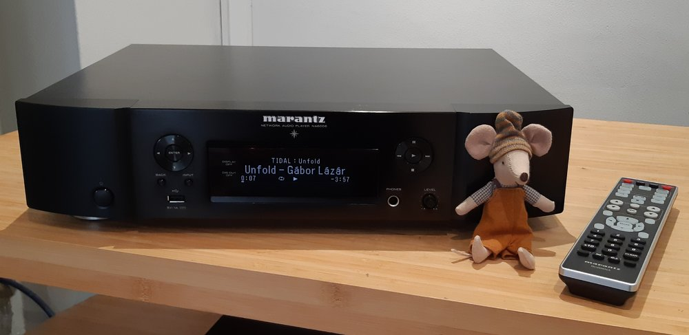 A nice, bright, clear display and straight forward front panel controls in matching Marantz casework, a thing of beauty.