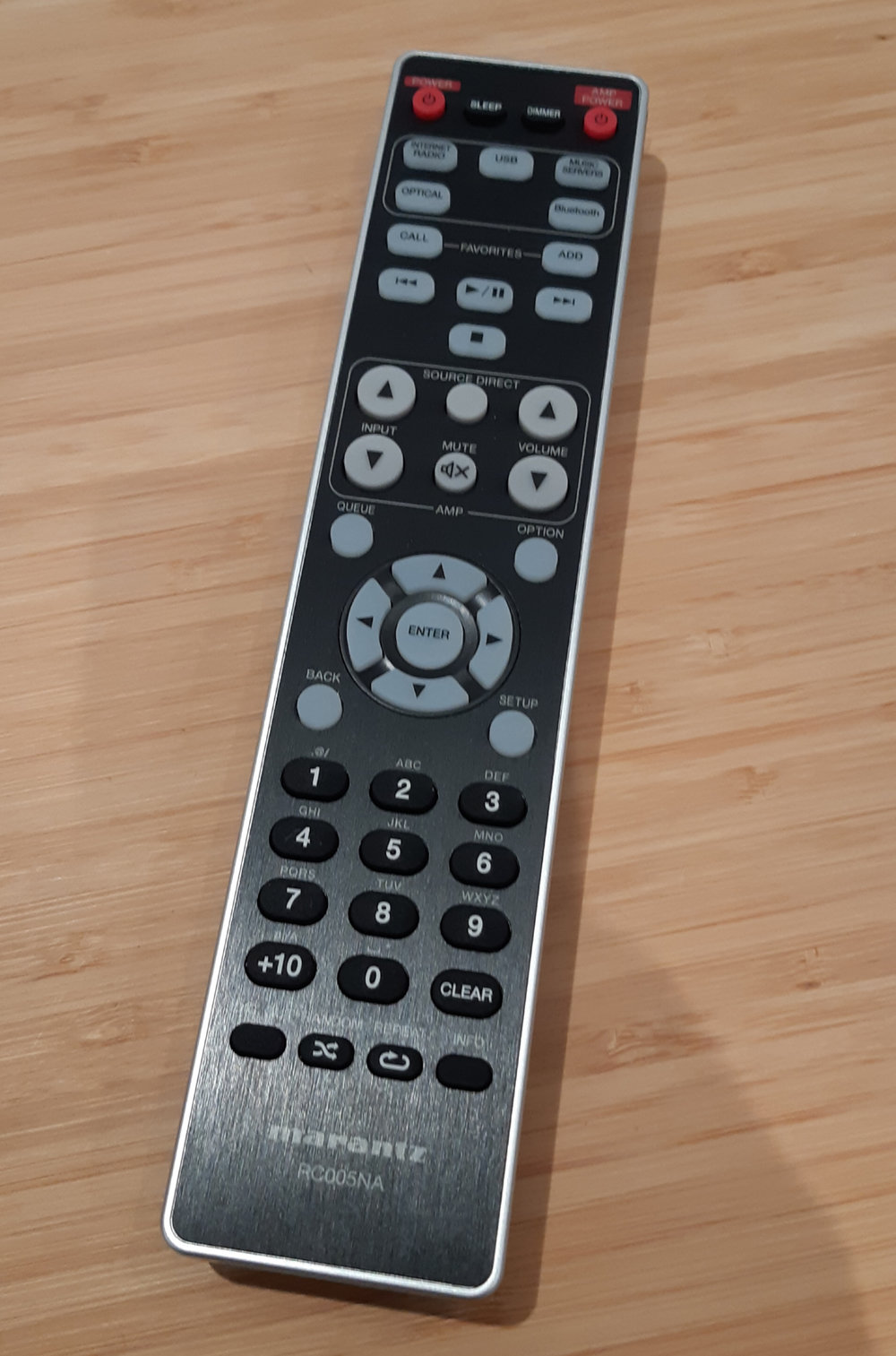A good, old fashioned remote control makes operation a breeze.
