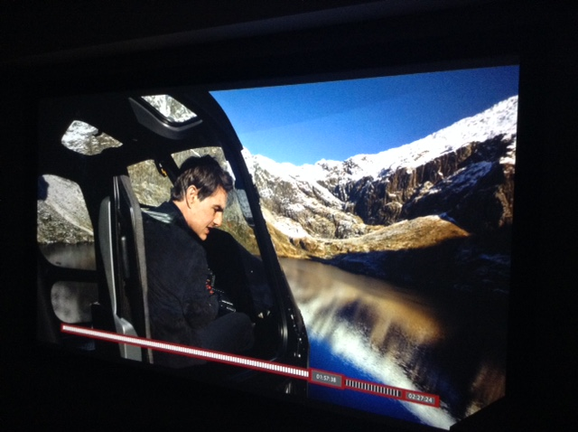 Mission Impossible Fallout in 4K 106'' Screen