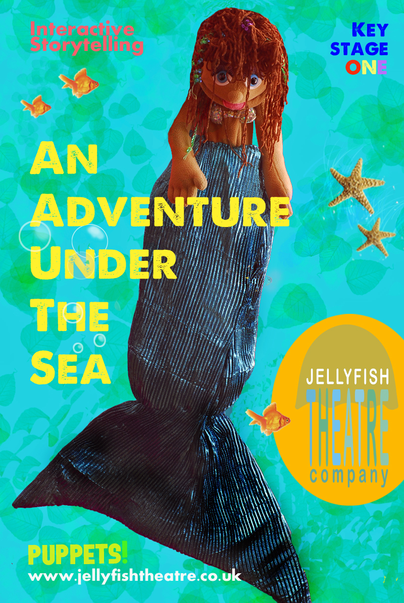Leaflet for An Adventure Under the Sea leaflet by 100Designs for Jellyfish Theatre Company