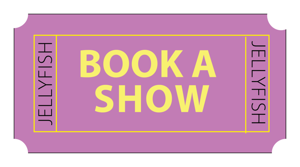 Book a show button for Jellyfish Theatre Company website by 100Designs