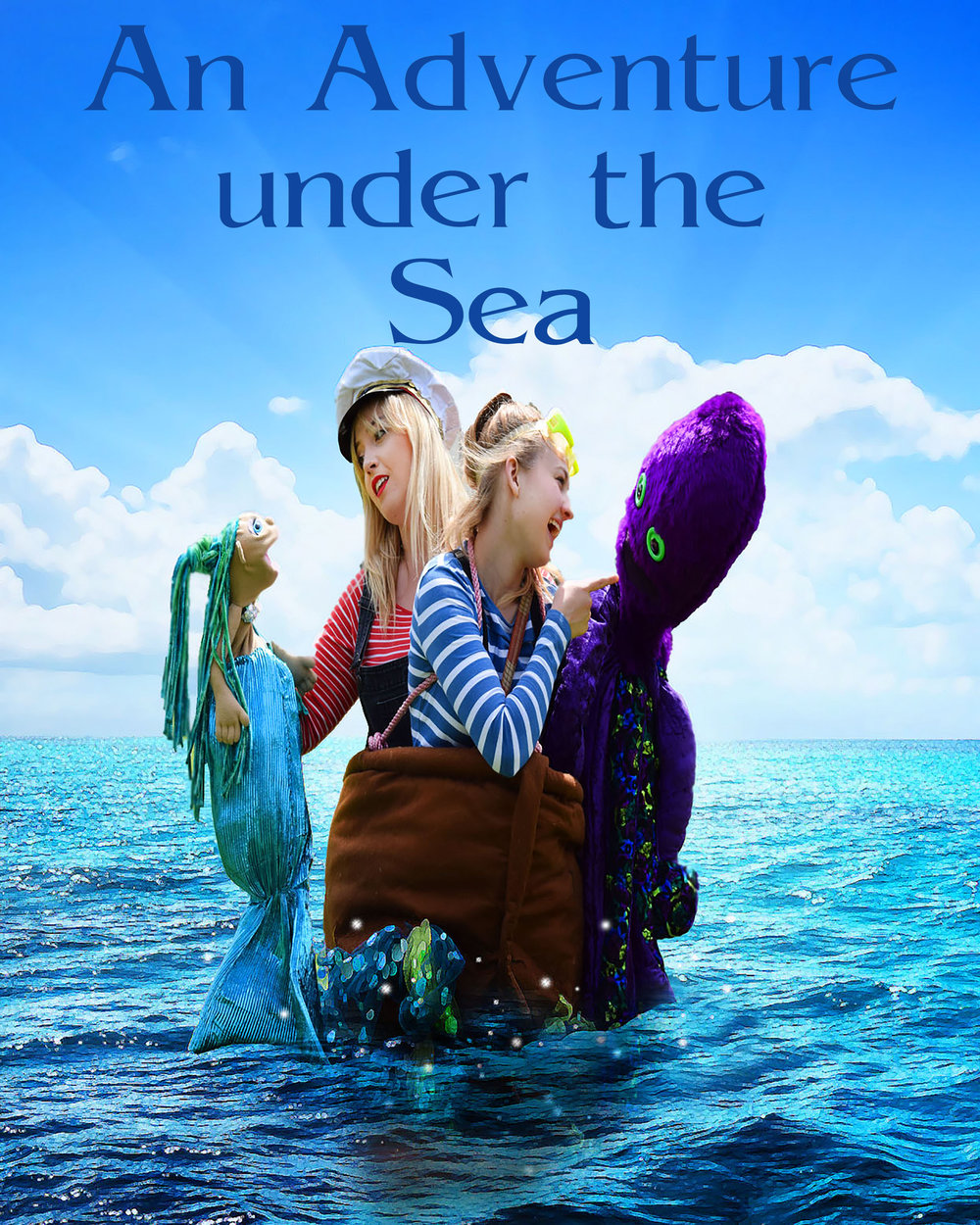 An Adventure under the Sea - Pack your bags and come with us for an excting adventure in the sparkly blue sea. Meet a mermaid, a friendly octopus and a very silly shark and then join us for the underwater Olympics. Interactive storytelling with puppets.Age 3+