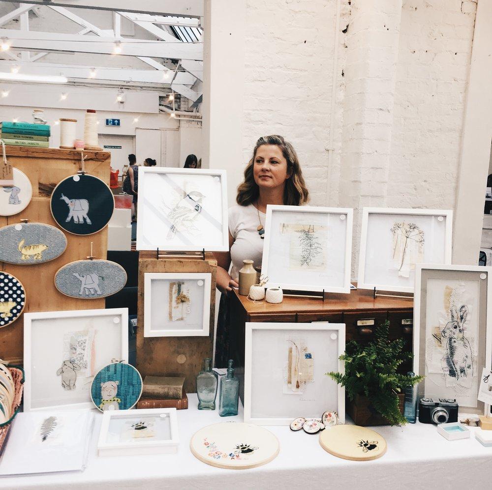 Me at Paperdolls Handmade Market in Birmingham. -