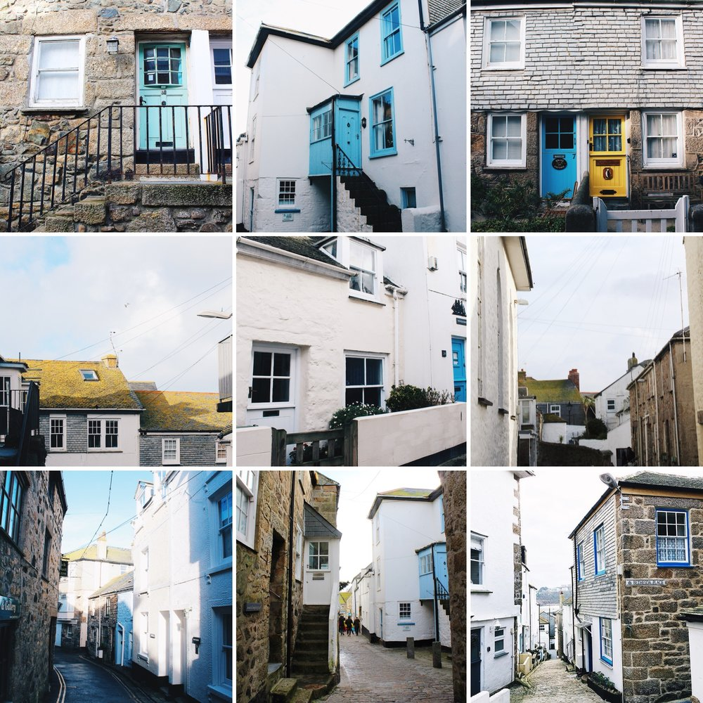 The white washed houses reflect the light beautifully in St Ives.  Add that to the hints of grey, yellow and blue and it is one of the most picturesque towns in Britain.