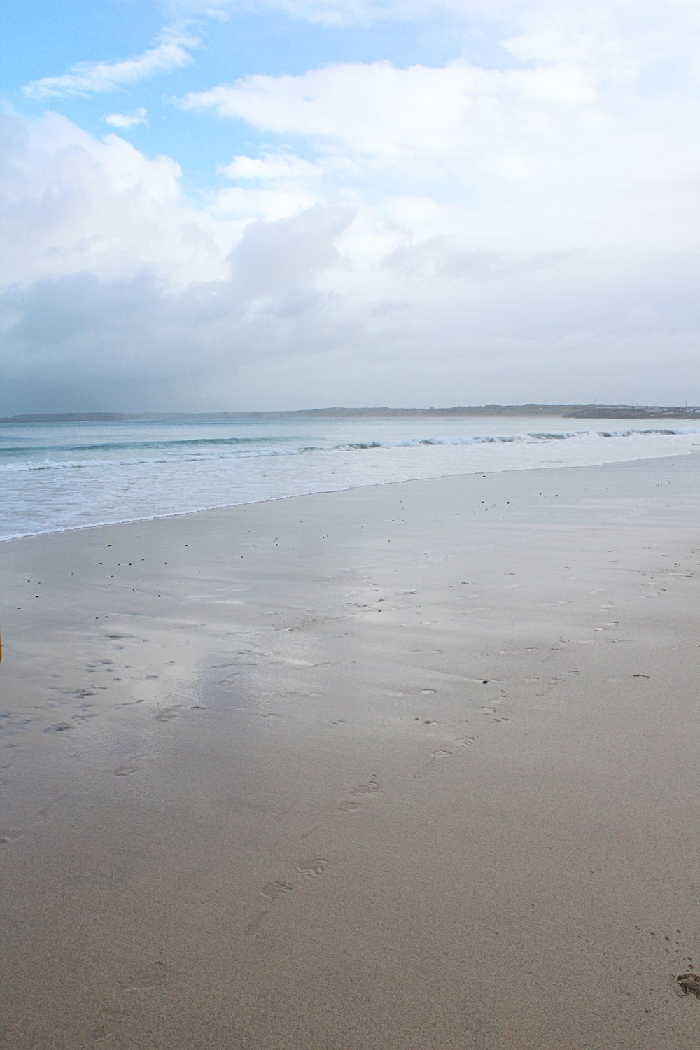 The beautiful beach of Carbis Bay.  Even on a dull day the colours are gorgeous.  All of the beaches in St Ives are immaculately clean.
