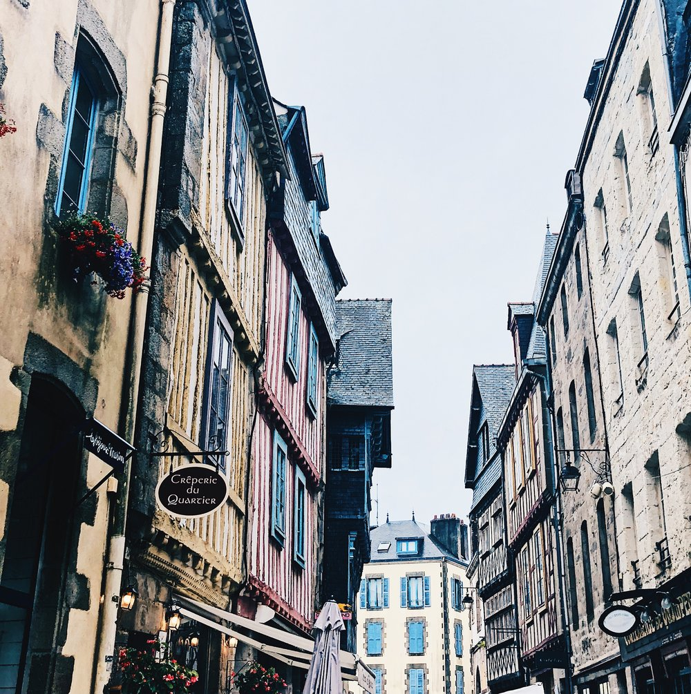 The charming back streets of Quimper.