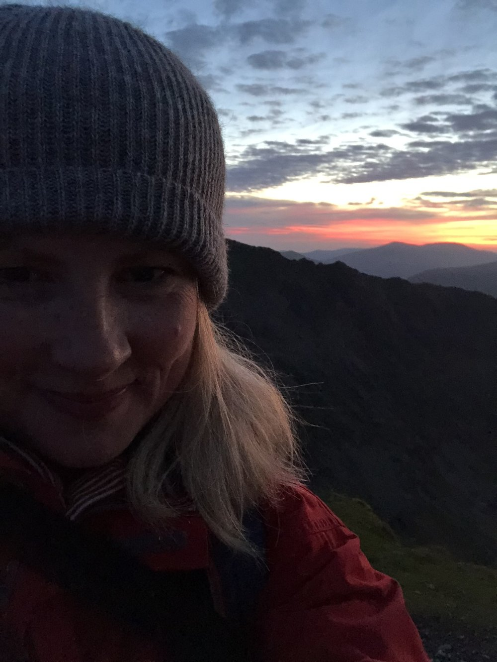 Nearly at the top of Snowdon at 3am. I never stopped smiling even when it got really hard after half way up. My friends kept me going all the way.