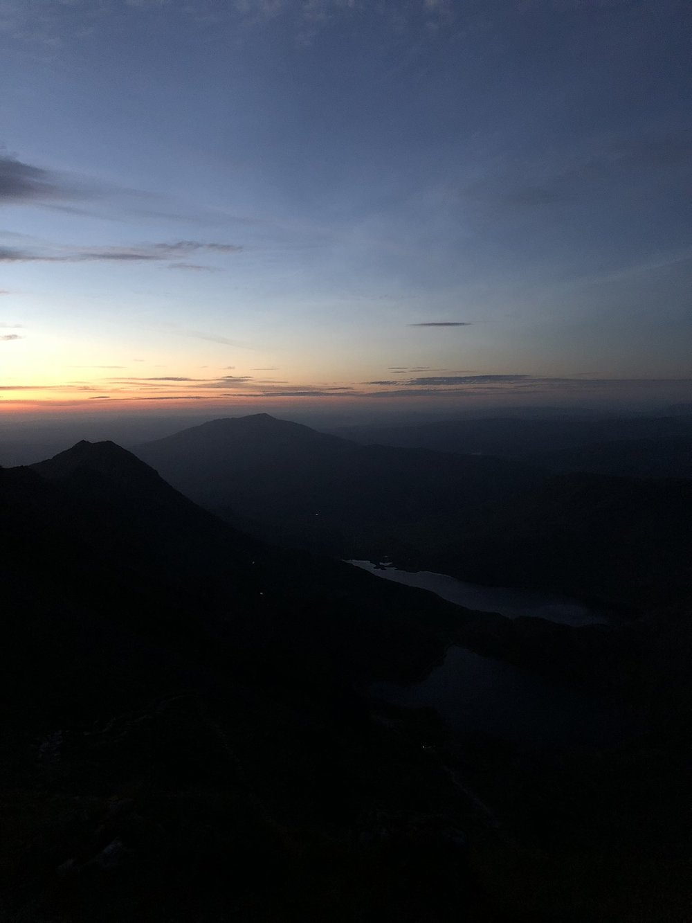 Even at 1am there was still a glow from the sun rising. We were all well prepared with our head torches but they weren't really needed. The bright glow of the sky ignited our excitement and drive to get to the summit.