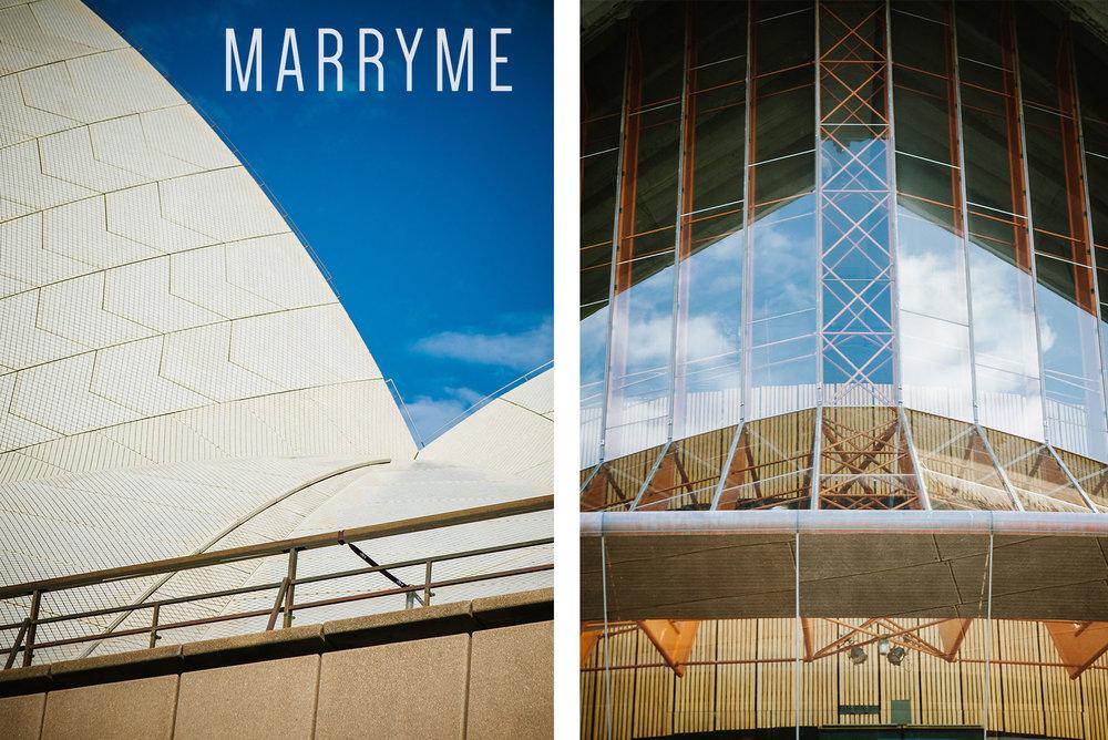 Sydney Harbour Opera House northern boardwalk marriage proposal 1