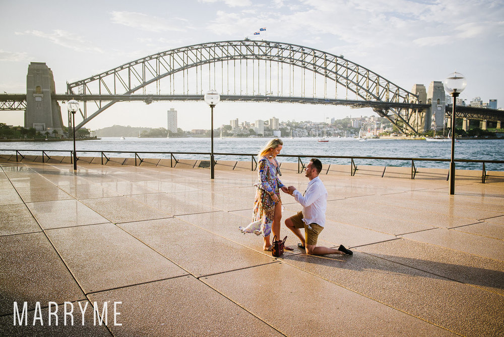 Sydney Harbour Opera House northern boardwalk marriage proposal 4