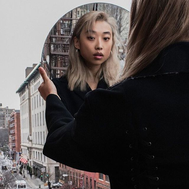 @margaret__zhang wears the Bella Hoops 💫 sophiethatcher.com