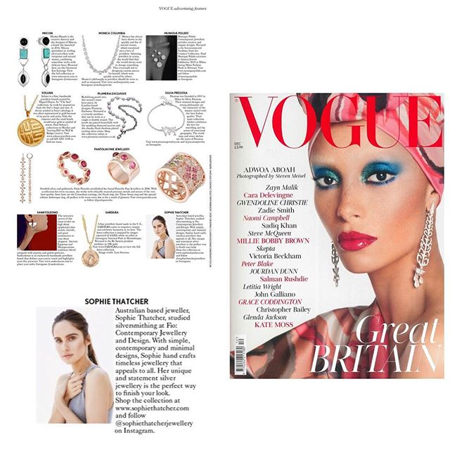 @sophiethatcherjewellery featured in December issue of @britishvogue