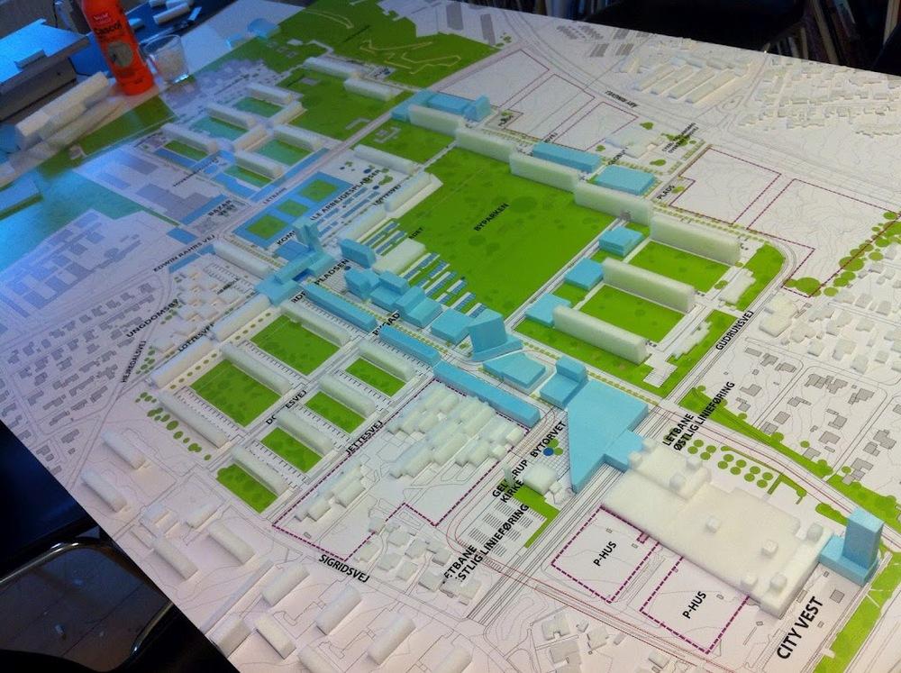 September '12 / Work / Aarhus    Model Building at JWH Architects in Aarhus. The Gellerup Masterplan
