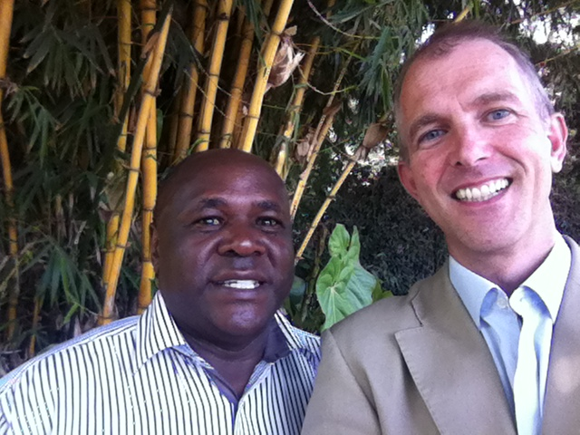 Recent photo of Tom reunited with Peterson Karanja, one of our key partners in Kenya.