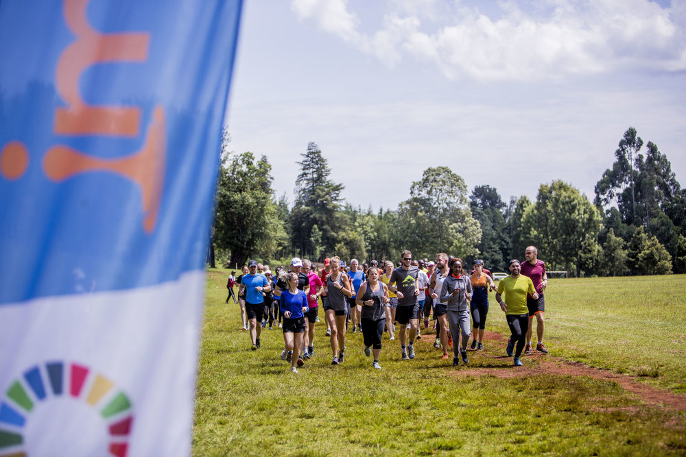 Runners set out for a training run in Kericho.