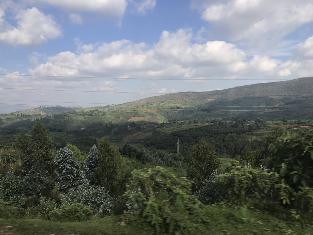 Beautiful mountains in Burundi.